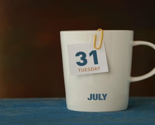 July 31 Date Reminder
